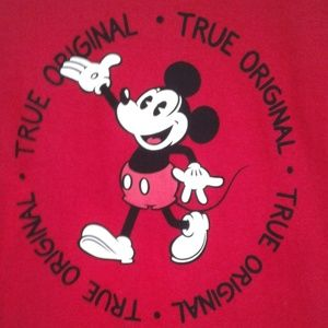Disney red Mickey Mouse short sleeve t shirt med